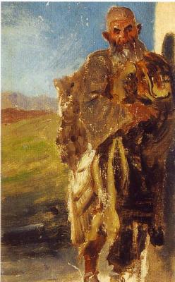 Григорий Григорьевич Гагарин. «Огнепоклонник-герб. Баку». 1840-1847