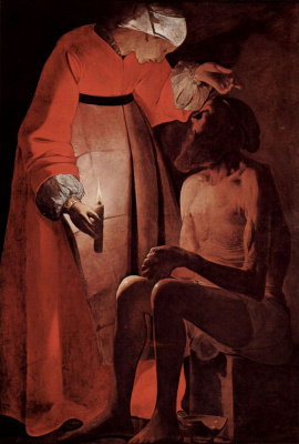 Georges de La Tour. Job and his wife