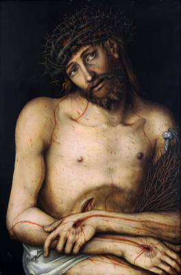 Lucas the Younger Cranach. Grieving Christ