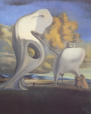 "Salvador Dali. Architectonic ""Angelus"" By Millet"