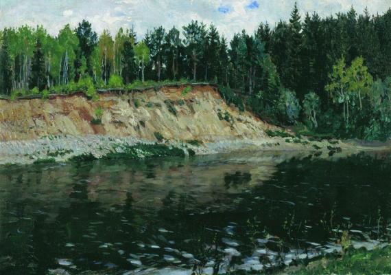 Stanislav Yulianovich Zhukovsky. River. Steep Bank