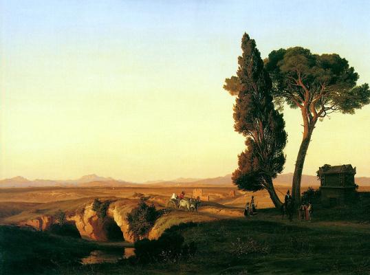 Пьер Дюборк. Пейзаж возле Рима