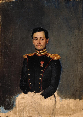 Pavel Andreevich Fedotov. Portrait of Staff Captain P. S. Vannovsky