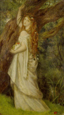 Arthur Hughes. Ophelia before death. Sketch