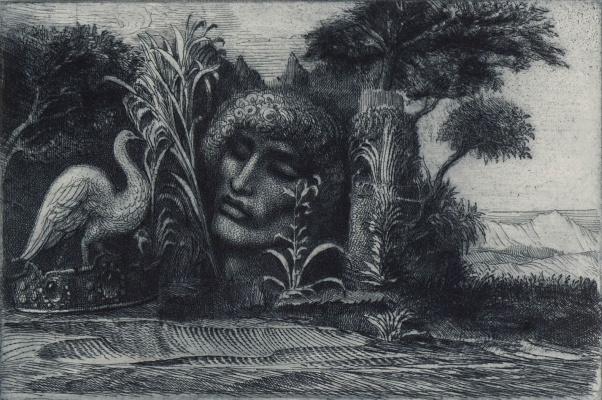 Ernst Fuchs. Surreal landscape