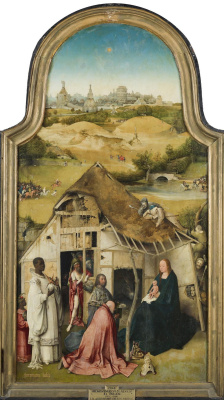 Hieronymus Bosch. The Adoration Of The Magi. The Central part of the triptych