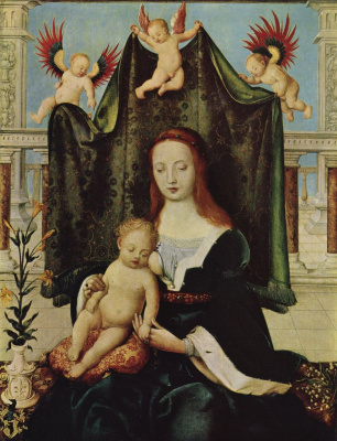 Hans Senior Holbein. Mary with child
