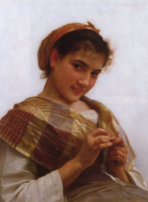 William-Adolphe Bouguereau. Portrait of a young girl