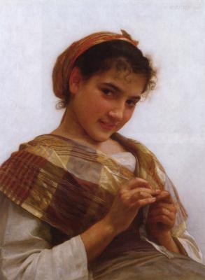 Адольф Вильям Бугро. Портрет молодой девушки