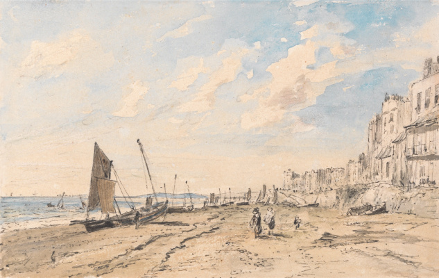 John Constable. Brighton Beach Looking West