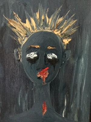 Svetlana Makarova. Portrait of a sad girl
