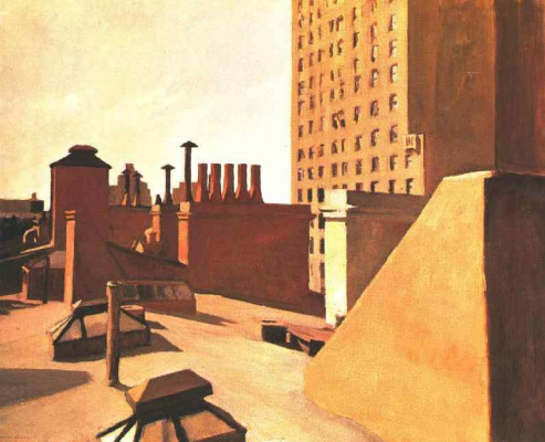 Edward Hopper. The rooftops of the city