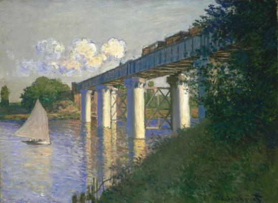 Клод Моне. Железнодорожный мост в Аржантейе