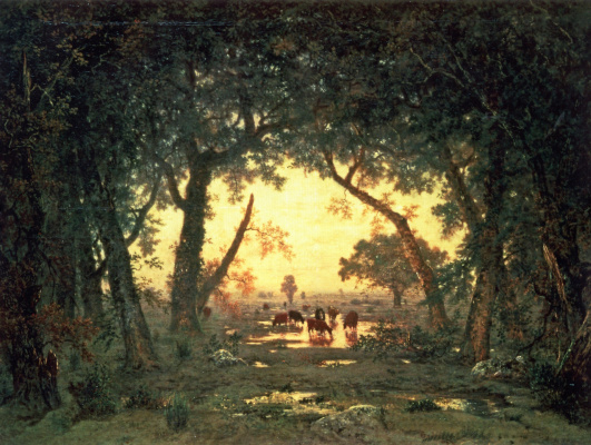 Theodore Rousseau. The Forest Of Fontainebleau. Morning