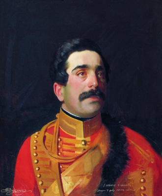 Sergey Konstantinovich Zaryanka. Portrait of Prince Semyon Davydovich Abamelek