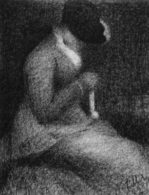 Georges Seurat. Knitting