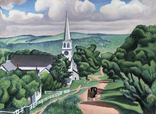 Чарлз Шилер. Пейзаж в Вермонте