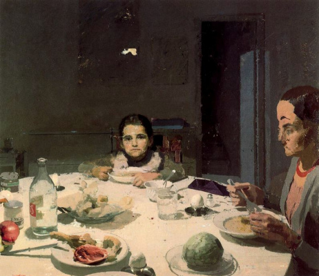 Антонио Лопес Гарсия. Ужин