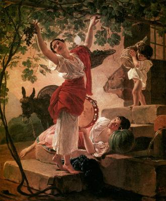 Karl Pavlovich Bryullov. Girl gathering grapes near Naples