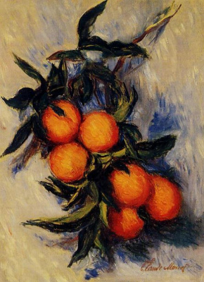 Claude Monet. Branch of oranges