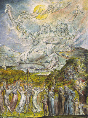 """William Blake. Festival Of The Sun. Illustrations to the poems of Milton's """"Fun"""" and """"Thoughtful"""""""