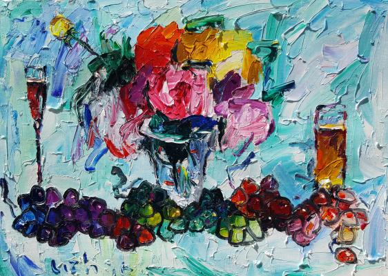 Виноград вино и цветы 66