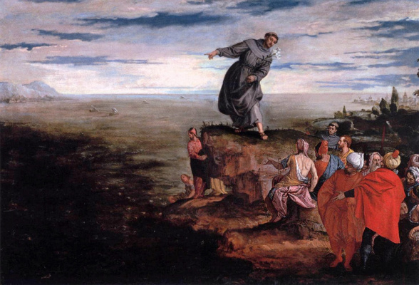 Paolo Veronese. Rev. Anthony of Padua preaches about fish