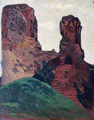 Nicholas Roerich. Vilnius. The ruins of the castle of Prince Gediminas