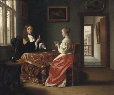 Самюэл ван Хогстратен. Игра в карты