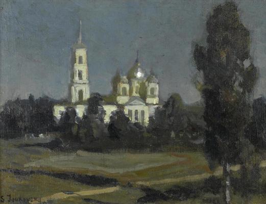 Станислав Юлианович Жуковский. Купола в лунном свете
