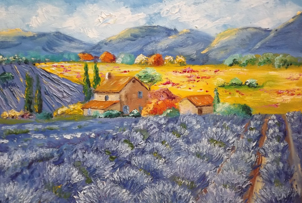 """Arseniy Donov. """"Lavender fields of Provence"""""""