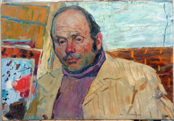 Виктор Петрович Овчаров. Portrait of the artist P.M. Rudina