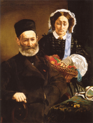 Edouard Manet. Portrait of Monsieur and Madame Auguste Manet