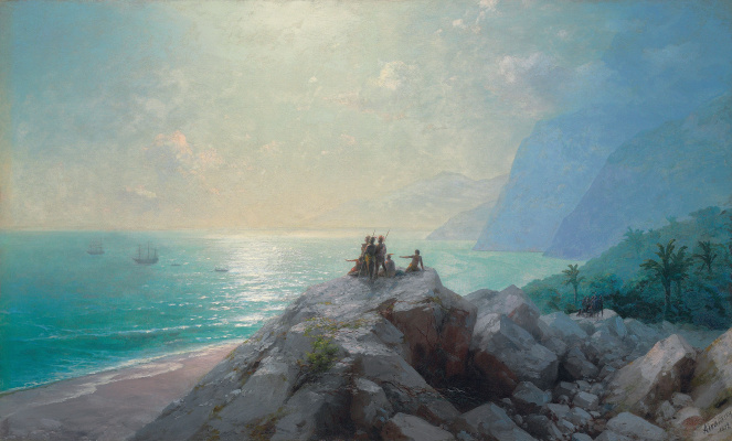 Ivan Aivazovsky. The arrival of the Columbus flotilla to the shores of America