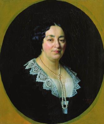 Сергей Константинович Зарянко. Портрет Екатерины Эммануиловны Лазаревой. 1855