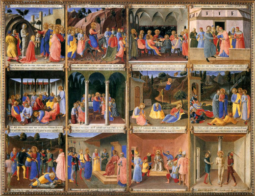 Fra Beato Angelico. Scenes from the life of Christ. Panel 2. Painting for Armadio degli Argenti (Silver Chest)