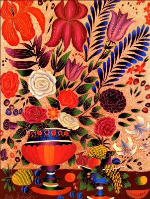 Юрий Горбачев. Натюрморт с розами