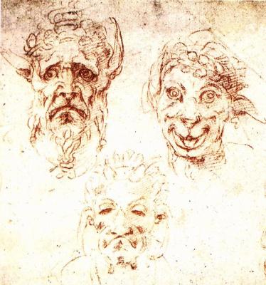 Michelangelo Buonarroti. Grotesque faces