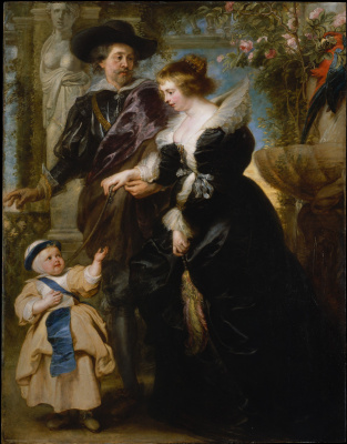 Peter Paul Rubens. Self-portrait with his wife Elena and son Forman