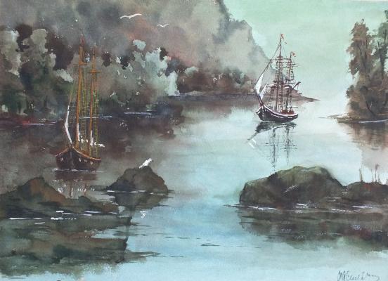 Sergey Alexandrovich Vasilchikov. Evening bay