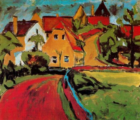 Erich Heckel. Saxon village
