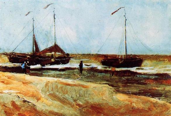 Винсент Ван Гог. Берег в Схевенингене в тихую погоду