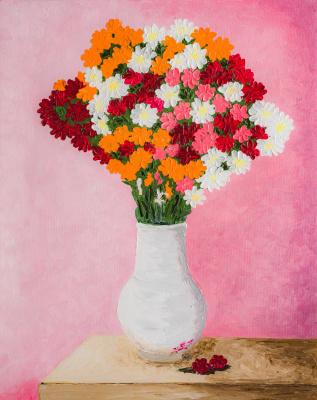 Arina Yuryevna Yastrebova. Bouquet of flowers in a vase