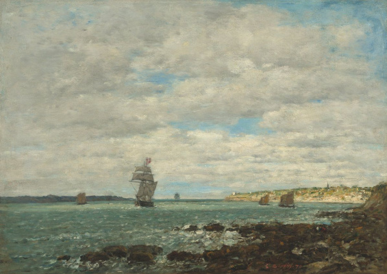 Eugene Boudin. The Coast Of Brittany