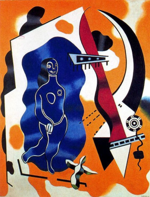 Fernand Leger. Blue dancer