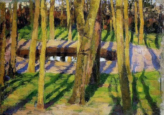 Evgeniy Evgenievich Lansere. A park