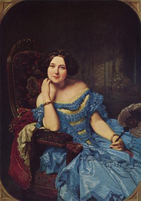 Federico de Madraso y Coones. Portrait of Dona Amalia de Llano and Dotres, Countess de Vilches