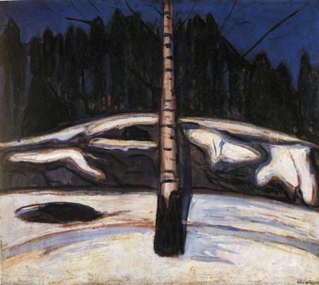 Edvard Munch. Birch in the snow