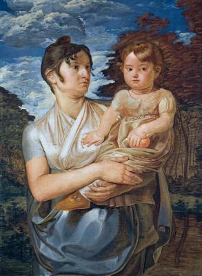 Филипп Отто Рунге. Полина Рунге с двухлетним сыном