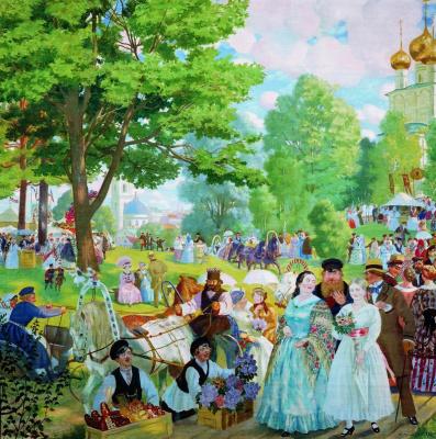 Boris Mikhailovich Kustodiev. The day of Pentecost